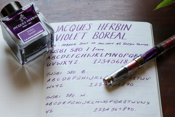 Pebble Stationery Co Jacques Herbin Violet Boreal
