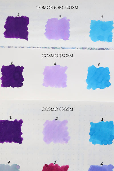 Pebble Stationery Co Cosmo Air Light 75gsm v's 83gsm