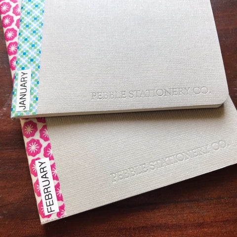 Organising Bullet journal planner Pocket notebooks with Washi tape