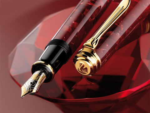 Pebble Stationery Co Pen Zero Pelikan M600 Ruby Red