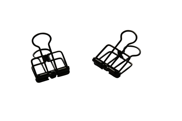 Metal Skeleton Clips - Black