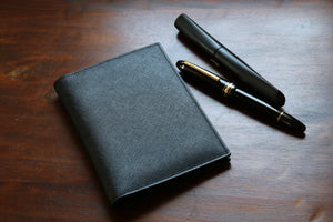 Black Saffiano Pocket Notebook Cover