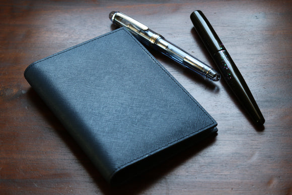 Navy Blue Saffiano Pocket Notebook Cover
