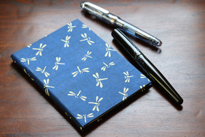 Chiyogami A6 Tomoe River Notebook - Blue Dragonfly