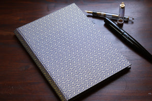 Chiyogami A6 Tomoe River Notebook - Blue and Gold