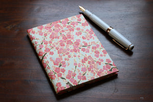 Chiyogami A6 Tomoe River Notebook - Peach Pink sakura