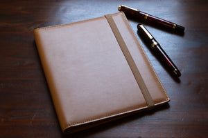 Tan A5 Notebook Leather Cover