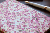 Chiyogami A6 Tomoe River Notebook - Pink sakura