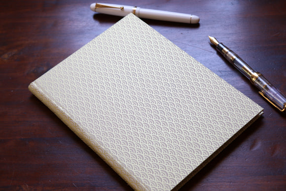 Chiyogami A5 Tomoe River Notebook - White and Gold