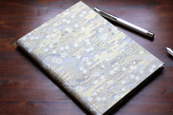 Chiyogami A5 Tomoe River Notebook - Silver and Gold Kinkakuji