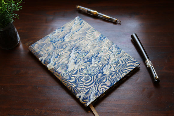 Chiyogami A5 Tomoe River Notebook - Blue Wave