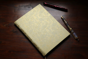 Chiyogami A5 Tomoe River Notebook - Gold Chrysanthemum