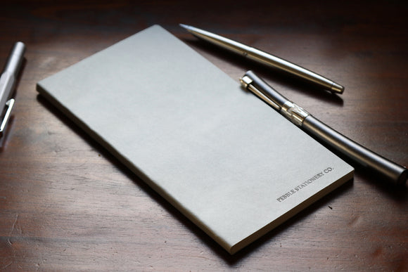 Traveler's Regular Sized Tomoe River Notebook (Grey Vegan Leatherette)