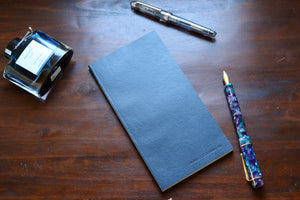 Traveler's Regular Sized Undated Planner (Navy Vegan Leatherette)
