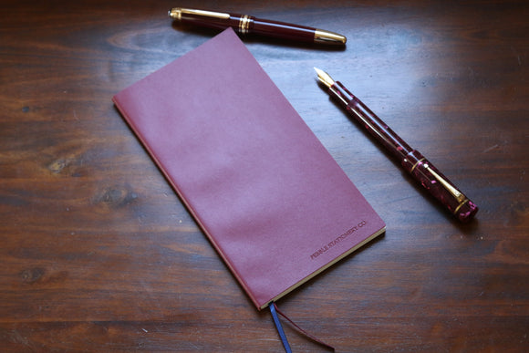 Traveler's Regular Sized Undated Planner (Red Vegan Leatherette)