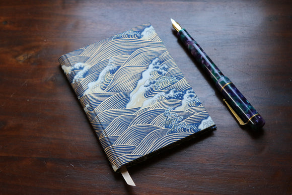 Chiyogami A6 Tomoe River Notebook - Blue Wave