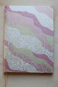 Chiyogami A5 Tomoe River Notebook - Pink and Gold