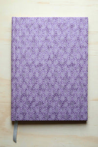Chiyogami A5 Tomoe River Notebook - Purple Asanoha