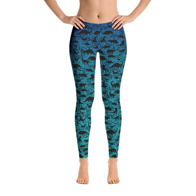 61a2f9c799f82 Dinosaur Wild Ombre Athletic Leggings – Neat Frog 💚