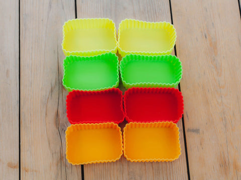 Silicone Rectangle Cup | Orange