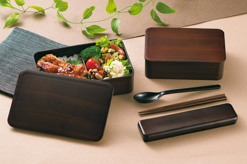 Lunch Box 800 ml Dark Wood