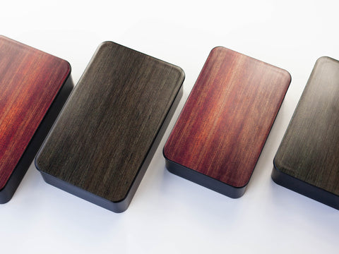 Woodgrain One Tier Bento Box 1000mL | Rosewood