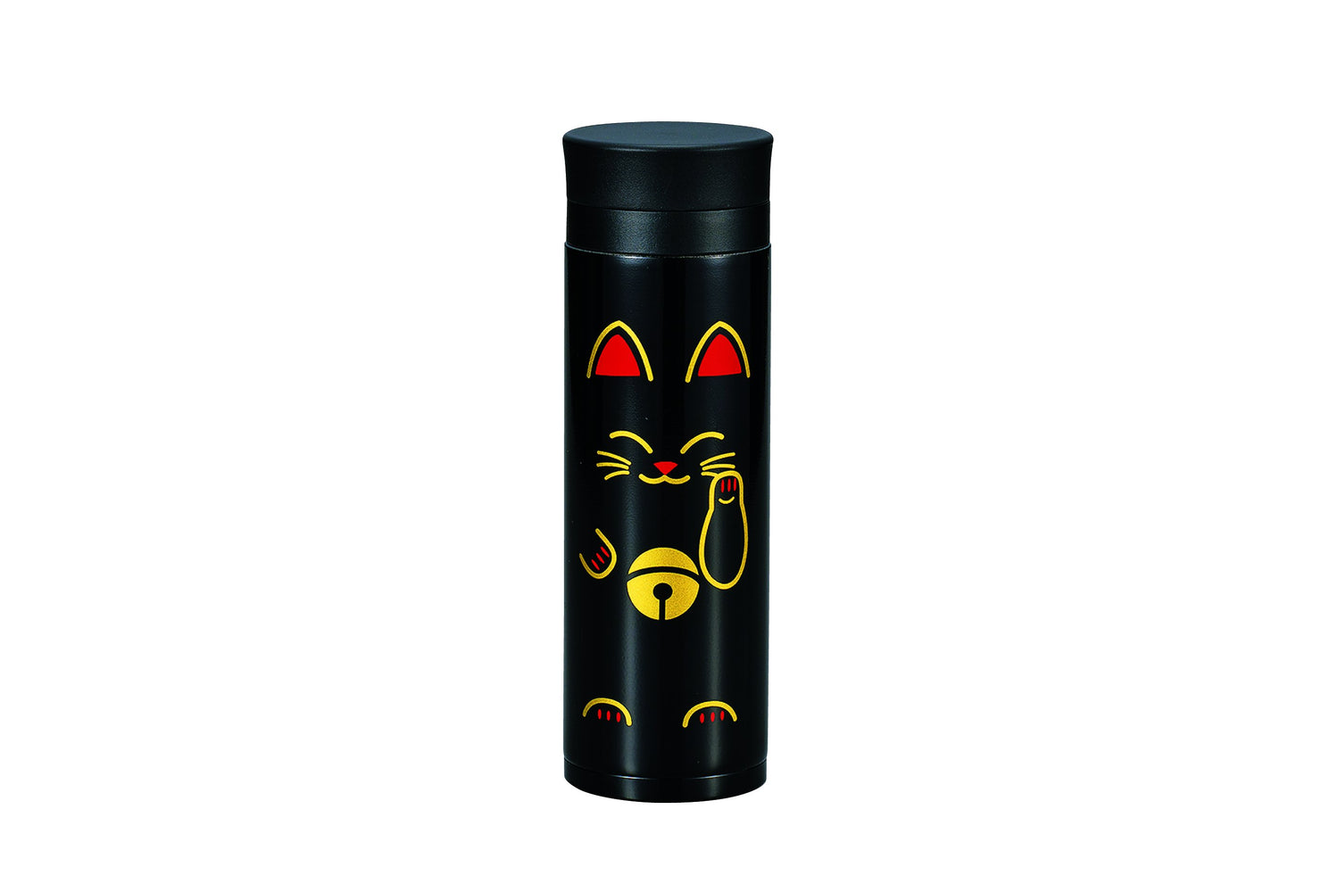 Manekineko Stainless Steel Bottle | Black