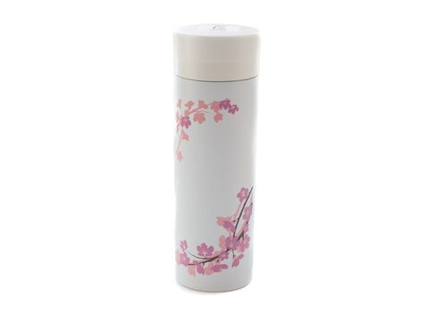 Sakura Stainless Steel Bottle | White