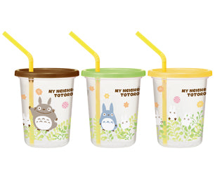 Totoro Straw Tumbler Three Sets | Plants