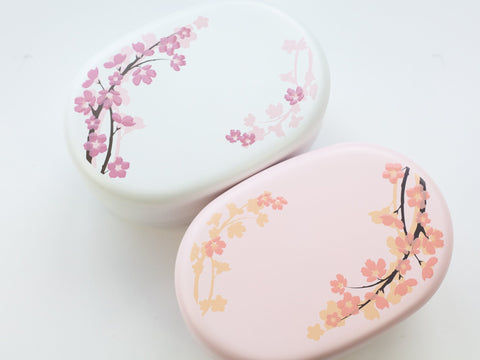 Soft Sakura Bento Box Small | White