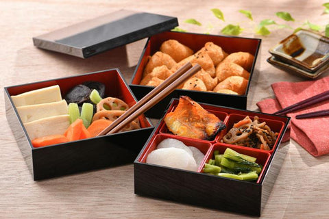 Black Three Tier Picnic Bento Box 15cm