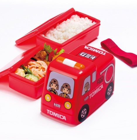 Tomica 2-Tier  Bento Box | Fire Truck