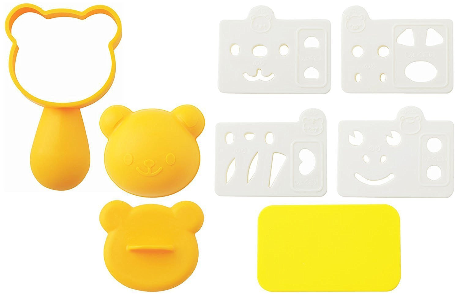 Onigiri Set | Yellow Four different animals
