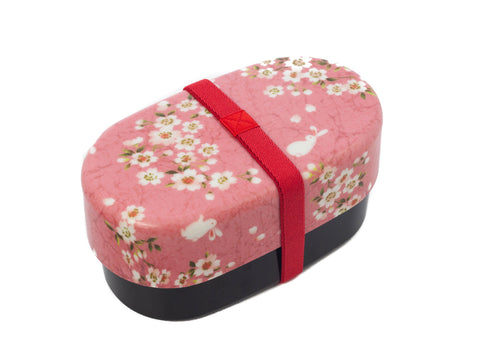 Sakura Rabbit Oval Bento Box 830mL | Pink