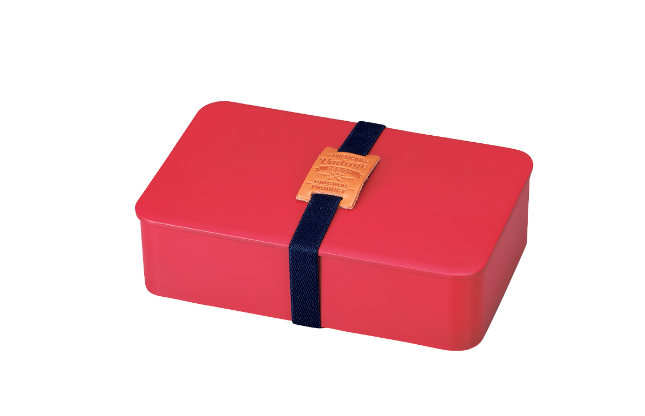 American Vintage One Tier Bento Box Rectangle | Red