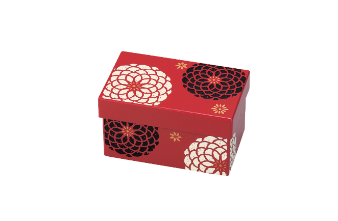 Ojyu Rectangle Two Tier Bento Box | Red