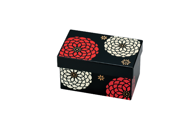 Ojyu Rectangle Two Tier Bento Box | Black