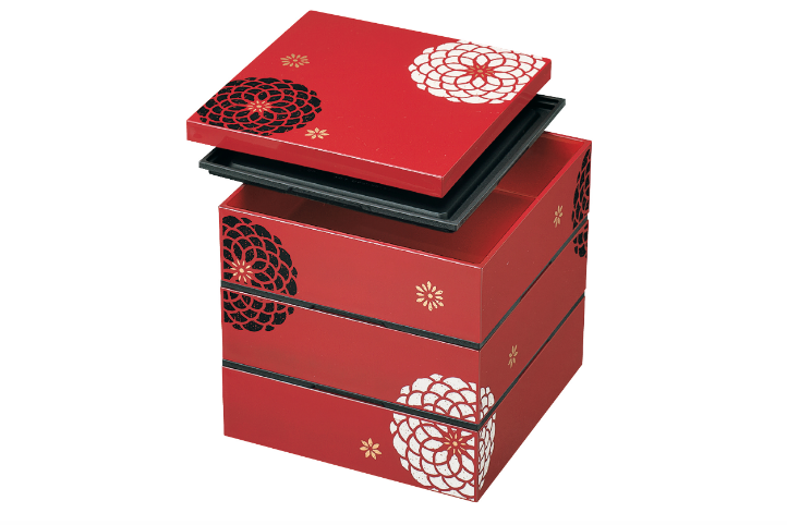 Ojyu Three Tier Picnic Box Large | Red