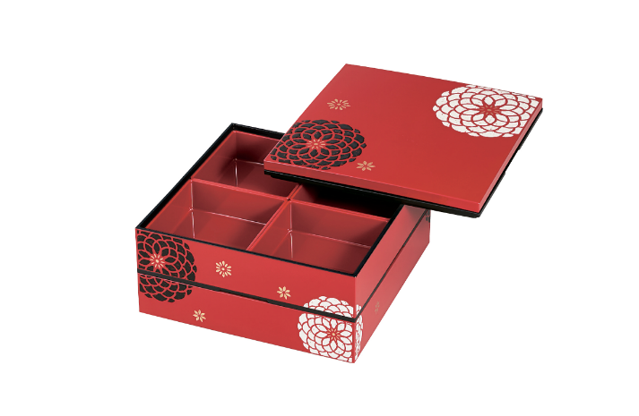 Ojyu Two Tier Picnic Box Large | Red