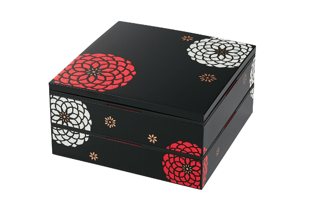 Ojyu Two Tier Picnic Box Large | Black