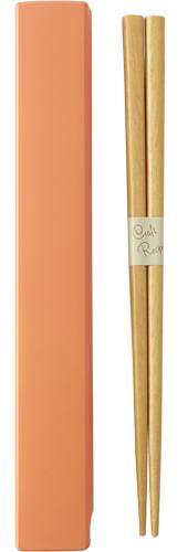 Square Color Chopsticks Set 19.5 cm | Orange