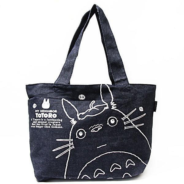 Totoro Tote Bag Dark Denim