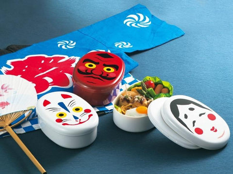 Oval Mask Bento box - Tengu