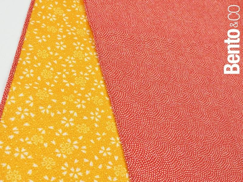 45 Polyester Amunzen Reversible | Fine Sharkshin Pattern / Sakura Red/Yellow