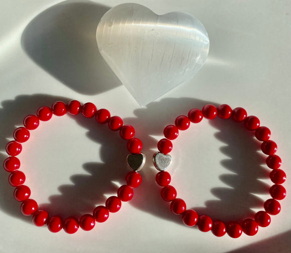 8mm Red Jade Bracelet