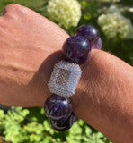 20mm Amethyst Gemstone Bracelet