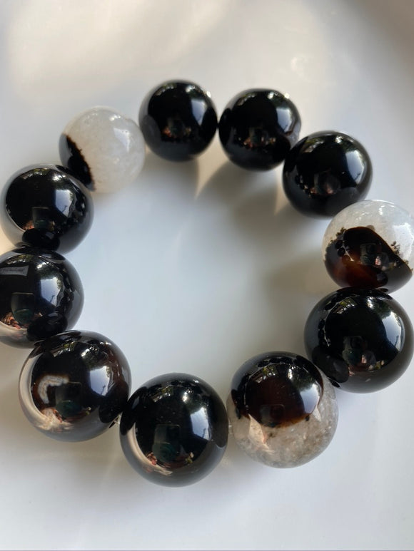 20mm Sardonyx Gemstone Bracelet