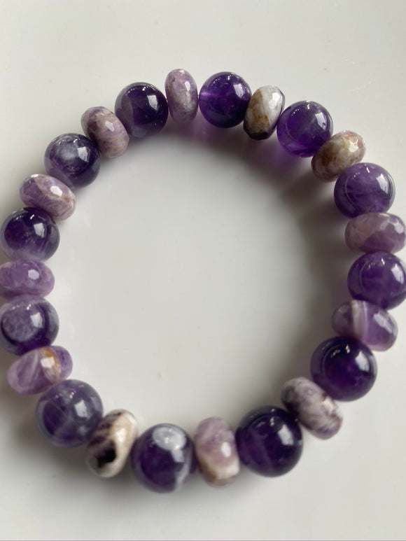 10mm Amethyst Gemstone Bracelet