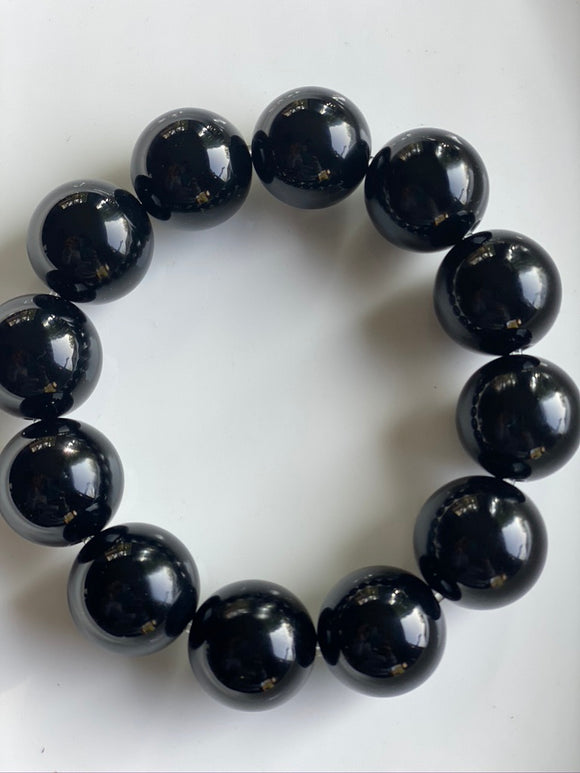 20mm Onyx Gemstone Bracelet