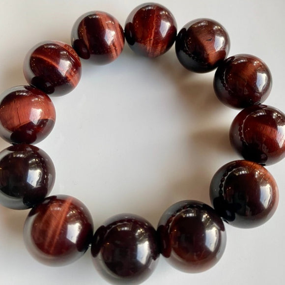 18mm Red Tiger's Eye Bracelet